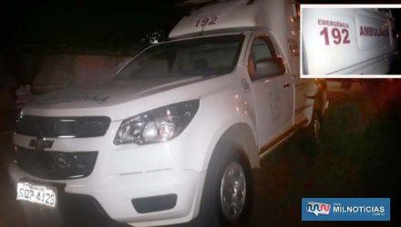 Capô e corroçaria da caminhonete também apresentava vários riscos, em um total de 7. Foto: MANOEL MESSIAS/Agência