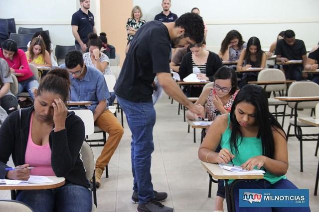 Prova do Processo Seletivo 04/2018 acontece na escola Anna Maria Marinho Nunes. Foto: Secom/Prefeitura
