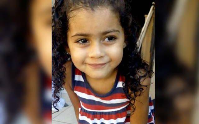 Ana Sofia da Silva Santos, de 4 anos, morreu apos ser picada no polegar direito por um escorpião. Foto: Divulgação