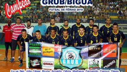 Grub/Biguá é o atual campeão do Futsal de Férias promovido pelo Governo de Andradina . Foto: MANOEL MESSIAS/Mil Noticias