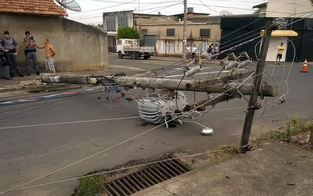 Cidade registrou nove acidentes na rede elétrica em Piracicaba — Foto: VC no G1.
