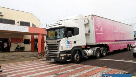 Carreta está estacionada na UBS 3 e atende até esta sexta-feira, 15. Foto: Secom/Prefeitura