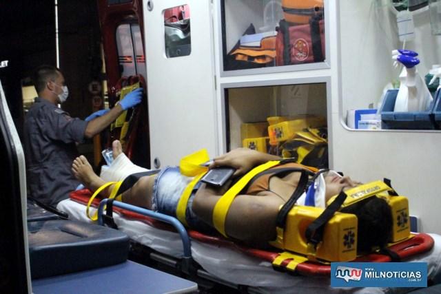 Passageira sofreu fratura em seu pé direito e passou por cirurgia para colocação de pino para correção da fratura. Foto: MANOEL MESSIAS/Agência