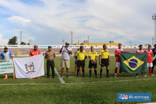 Manoel Messias de Almeida, da Secretaria de Esportes desejou a todos um bom jogo. Foto: MANOEL MESSIAS/Mil Noticias