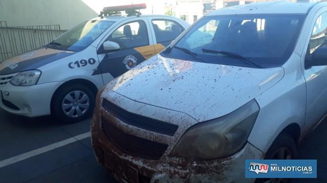 Veículo GM Montana foi entregue ao proprietário da empresa ao final da ocorrência. Foto: MANOEL MESSIAS/Agência