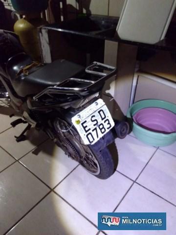 A moto que deu início a toda a ocorrência ficou por Castilho. Foto: DIVULGAÇÃOUma das motos