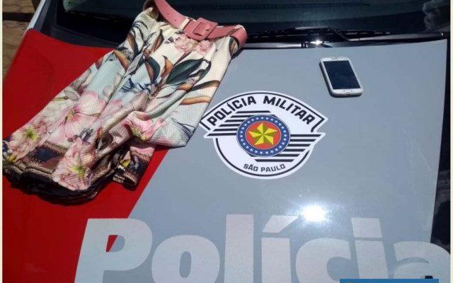Bermuda furtada de estabelecimento comercial já havia sido vendida e foi recuperada pela Polícia Militar. Foto: DIVULGAÇÃO/PM