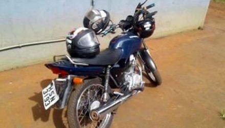 Moto usada na execução do PM foi apreendida. Foto: Divulgação