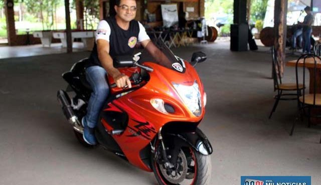 Marcão havia sido registrado com sua moto pela reportagem em um evento no sábado, em um pesqueiro em Paranápolis. Foto: MANOEL MESSIAS/Agência