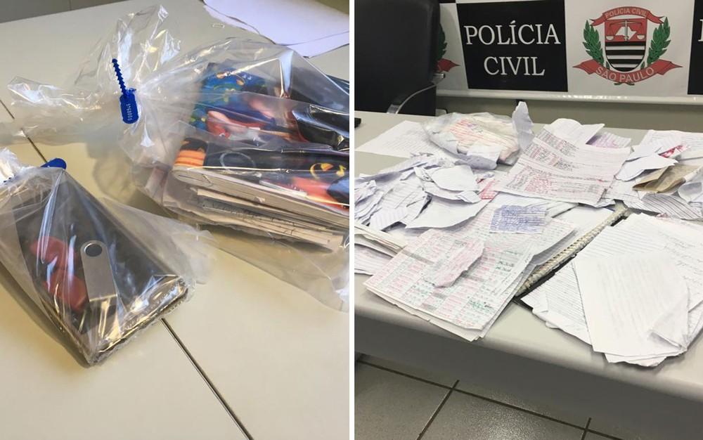 Na residência da investigada nada de ilícito foi localizado. Contudo, celulares e alguns documentos foram apreendidos. Foto: DIVULGAÇÃO