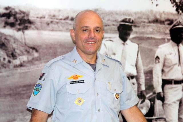 O Ten Cel Aranão conta com mais de 30 anos de efetivo serviço na Polícia Militar. Foto: Polícia Rodoviária