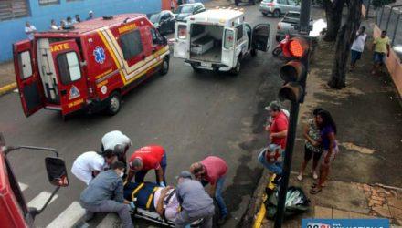 Acidente aconteceu no cruzamento da Av. Guanabara com rua Campo Grande, justamente onde existe um semáforo. Foto: MANOEL MESSIAS/Agência