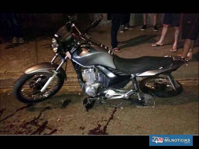 Bombeiros precisaram serrar balança da moto (garfo traseiro), para liberar pé da moça. Foto: Arquivo familiar