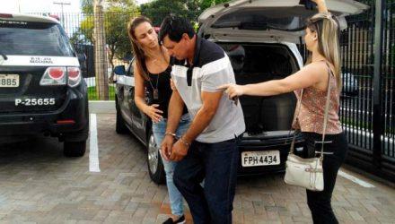 Homem foi preso por agredir a companheira em Araçatuba (SP) — Foto: Arquivo Pessoal