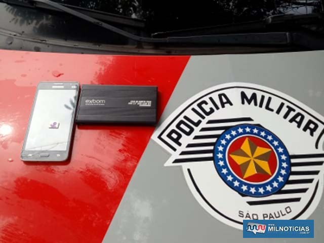foram recuperados e devolvidos à vítima um celular e um HD externo. Foto: DIVULGAÇÃO