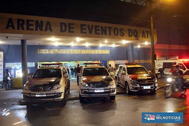 Evento final teve reforço da Polícia Militar. Foto: MANOEL MESSIAS