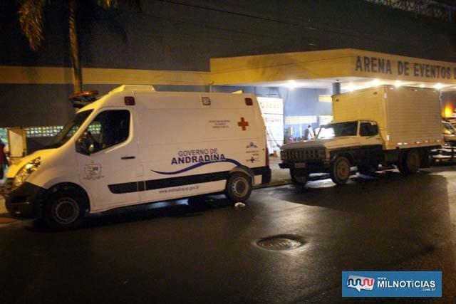 Serviço de ambulância do município também esteve a disposição. Foto: MANOEL MESSIAS