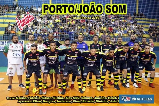 Porto/João Som, campeão do Futsal de férias 2019 e tetra campeão da modalidade. Foto: MANOEL MESSIAS