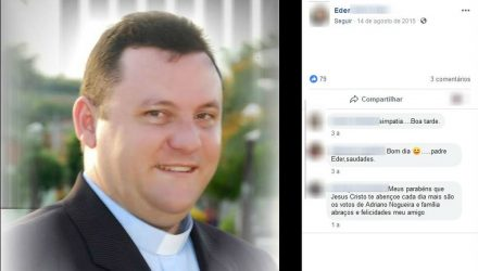 Padre pagou fiança e foi liberado após ser detido por embriaguez ao volante em Guaiçara — Foto: Reprodução/Facebook