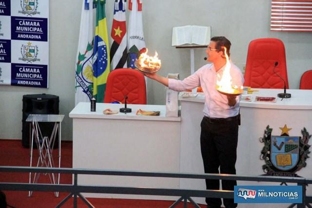 Palestrante Dalmir Sant'anna, deu um show durante o evento. Foto: Secom/Prefeitura