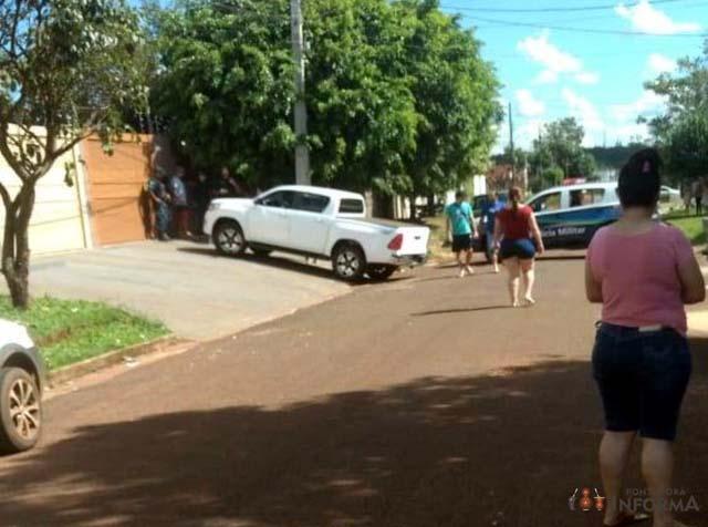 Crime aconteceu às 14h deste domingo. - Foto: Foto: Ponta Porã Informa/ Divulgação