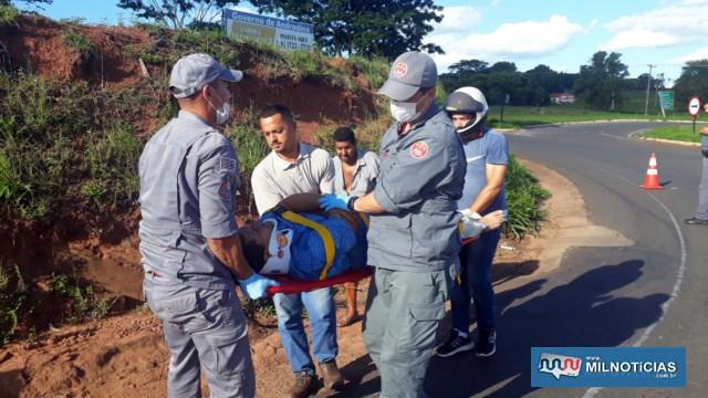 Homem sofreu escoriações por todo o corpo e uma contusão mais séria na coxa da perna direita. Foto: MIL NOTICIAS/Agência