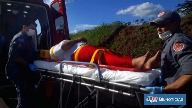 Passageira também sofreu escoriações pelo corpo e uma contusão no é direito. Foto: MIL NOTICIAS/Agência