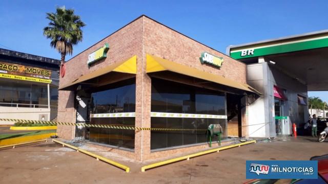 Subway está localizada anexo ao posto de gasolina do Shopping. Foto: DIVULGAÇÃO