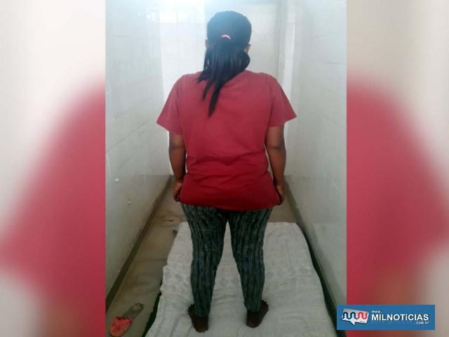 Acusada foi flagrada com 'tarugo' de maconha pesando 92 gramas, escondido na cavidade vaginal. Foto: MANOEL MESSIAS/Agência