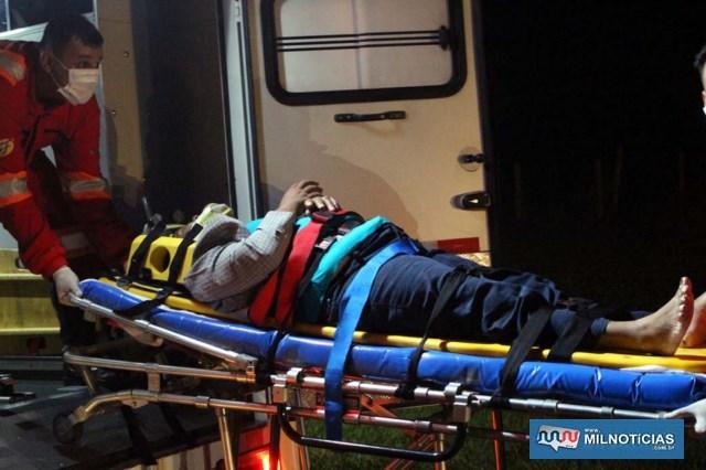 Elizabeth, de 52 anos, seguia como garupa e sofreu escoriações generalizadas pelo corpo, foi medicada e liberada posteriormente. Foto: MANOEL MESSIAS/Agência