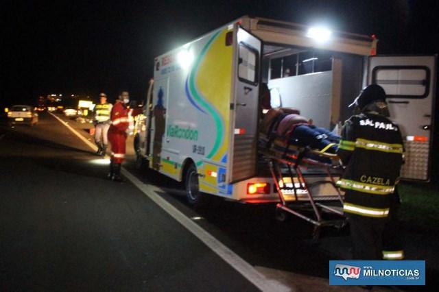 Acidente aconteceu a 200 metros da base de apoio da Via Rondon e a menos de 4 km de Andradina. Foto: MANOEL MESSIAS/Agência