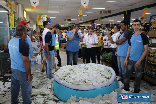 Sorteio foi realizado às 16h de sábado (06), com maior numero de cupons. Foto: Manoel Messias/Mil Noticias