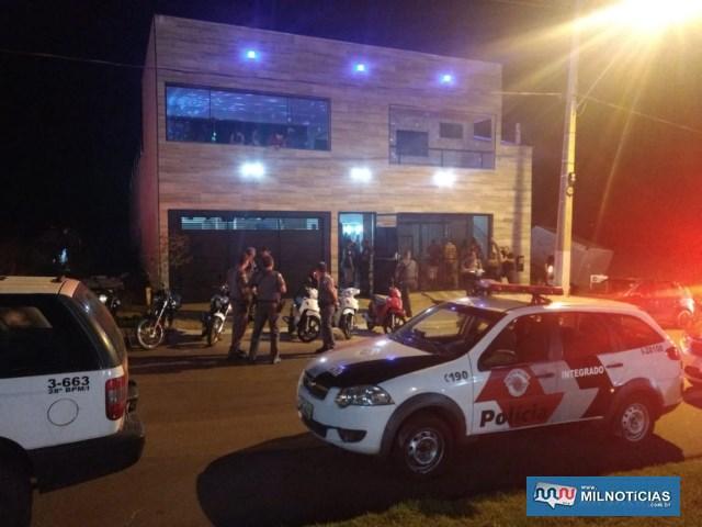 Festa irregular estava sendo realizada em um salão localizado no prolongamento da Av. Guanabara, na Vila Messias. Foto: DIVULGAÇÃO