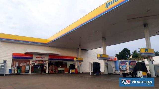 Posto de gasolina está desativado há alguns meses, localizado no cruzamento das ruas Bandeirantes com Paulo Marin (antiga Acre), bairro Piscina. Foto: MANOEL MESSIAS/Agência