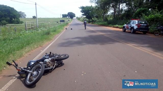 Homicídio aconteceu  na estrada de acesso à penitenciária de Andradina. Foto: MANOEL MESSIAS/Agência