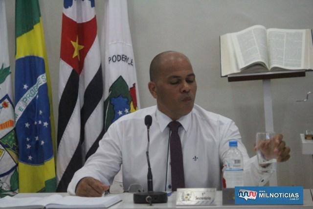 Hernani Martins, 1º Secretário da Câmara de Vereadores de andradina