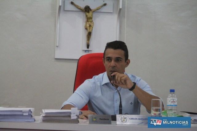 Carlos Alexandre Soares,o 'Professor Ceará', presidente da Câmara.