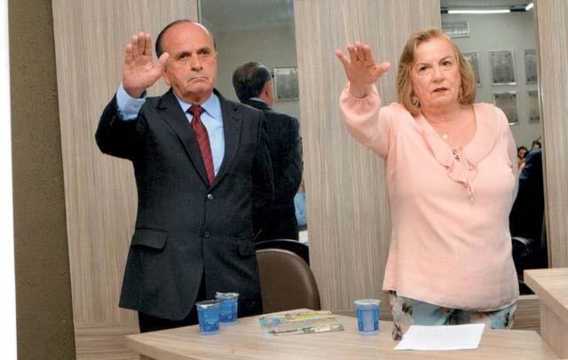 Prefeita Regina Célia Mustafá e seu vice e ex-prefeito de Mirandópolis, José Antônio. Foto: Prefeitura de Mirandópolis