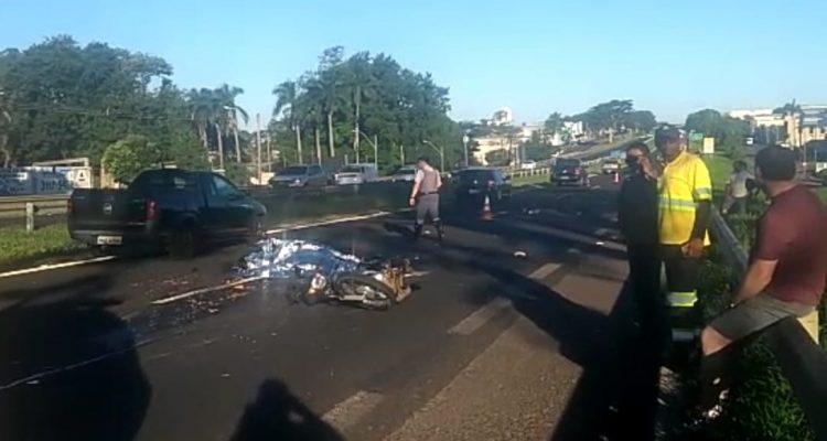 Foto: Adolescente morreu na hora após cair de motocicleta. Regional Press