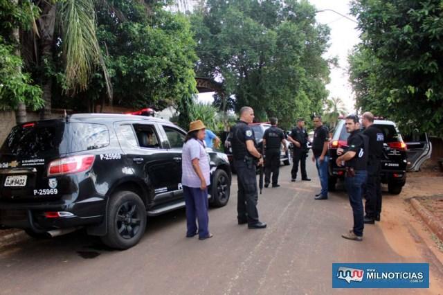 """Operação policial em Murutinga do Sul concentrou-se na casa do vereador Adeildo de Oliveira, o """"Kikão"""" (PTB), de 53 anos. Foto: MANOEL MESSIAS/Mil Noticias"""