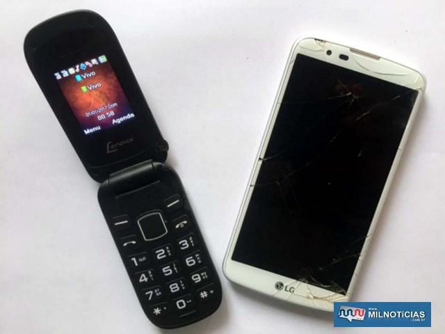 Foram apreendidos os celulares encontrados com os acusados. Foto: DIVULGAÇÃO