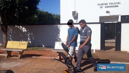Adolescente foi indiciado por Ato Infracional/tráfico de entorpecentes. Foto: MANOEL MESSIAS/Agência