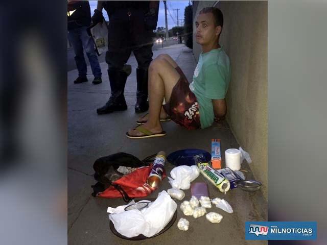 Serviços gerais foi preso acusado de tráfico de entorpecente, permanecendo a disposição da justiça. Foto: DIVULGAÇÃO