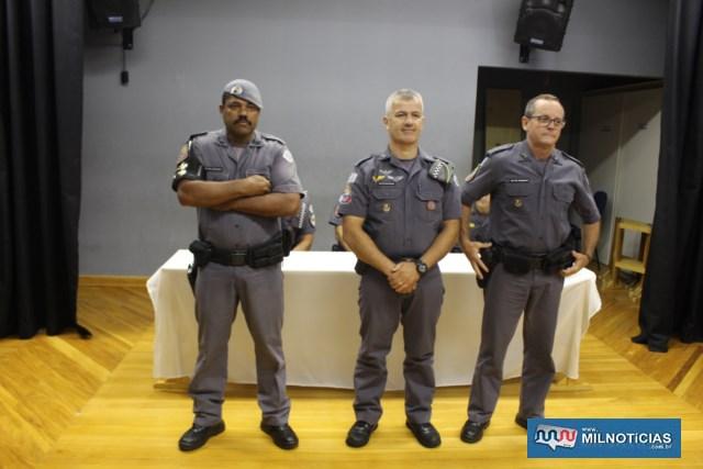 2º GRAU: Cabos PMs Ronifrem Leite de Moraes, Marcos Roberto Pelissar e Valdir Jerônimo. Foto: MANOEL MESSIAS