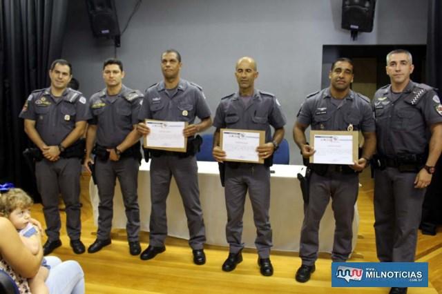 Ocorrência destaque mês de janeiro: Cabos PM Coutinho, Magno e C. Santos. Foto: MANOEL MESSIAS/Mil Noticias