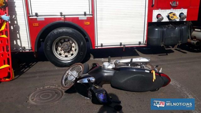 Motoneta Biz sofreu quebra do retrovisor esquerdo e riscos em várias partes da carenagem. Foto: MANOEL MESSIAS/Agência