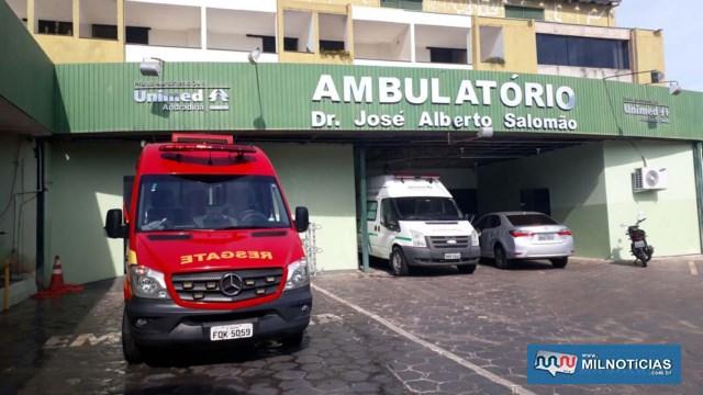 Vítima foi encaminhada ao hospital da Unimed. Foto: MANOEL MESSIAS/Agência