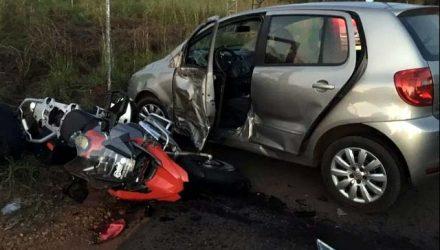 Comerciante morreu após bater a moto que pilotava contra automóvel. Foto: Arquivo pessoal