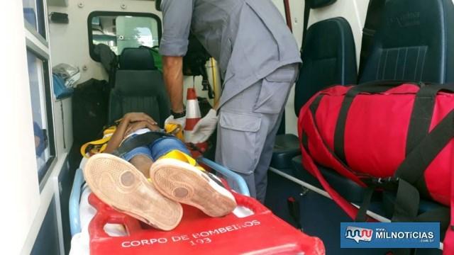 Criança foi socorrida pelos bombeiros até a UPA – Unidade de Pronto Atendimento, medicado e liberado posteriormente. Foto: MANOEL MESSIAS/Agência