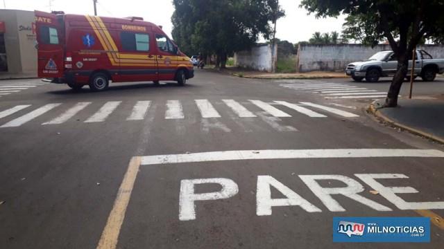 Vítima atravessou o cruzamento com sua bicicleta e acabou sendo atropelada. Foto: MANOEL MESSIAS/Agência